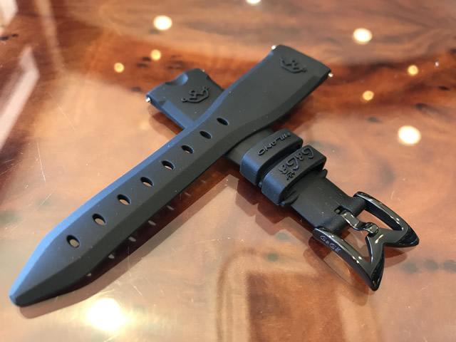 GaGa MILANO ガガミラノ 日本正規品 純正 時計バンド ベルト 40mm レディース用 ラバーベルト ブラック
