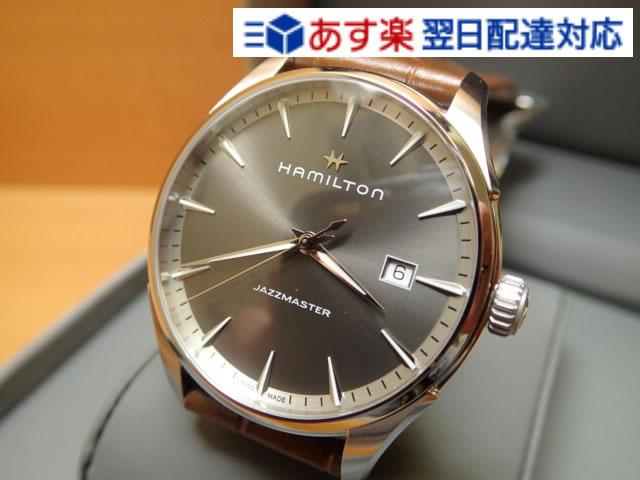 ハミルトン ジャズマスター 時計 腕時計 ジェント クオーツ レザーバンド HAMILTON H32451581 送料無料