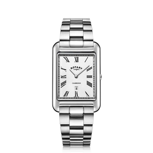 ROTARY CAMBRIDGE ロータリー ケンブリッジ ローマインデックス ステンレススチールブレスレット GB05280/01 クオーツ腕時計 送料無料 正規輸入品