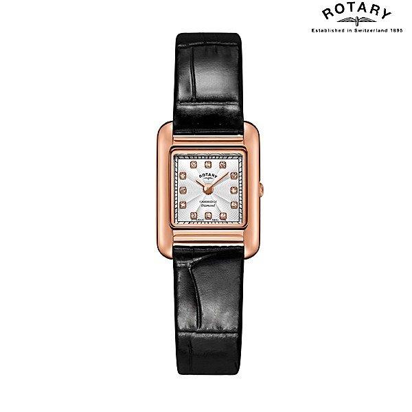 ROTARY CAMBRIDGE ロータリー ケンブリッジ ローズゴールドPVD ダイヤモンド インデックス(12石入り) LS05289/70/D クオーツ腕時計 レディースウォッチ 送料無料 正規輸入品