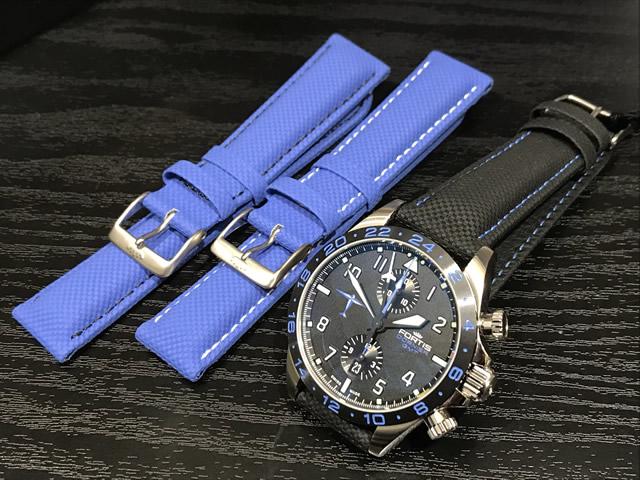 フォルティス ドルニエ GMT リミテッド 42mm Ref.402.35.41LP 時計に付いているブラックのストラップのほかに、2本のブルーのストラップつき 希少貴重 最後1本