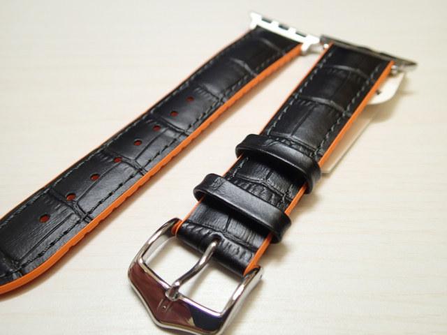 アップルウォッチ対応 取り付け可能 アダプター付き HIRSCH ヒルシュ ANDY アンディ 腕時計ベルト カーフ (アリゲーターの型押し仕上げ) 裏素材は カウチューク (天然ゴム) 20mm 22mm