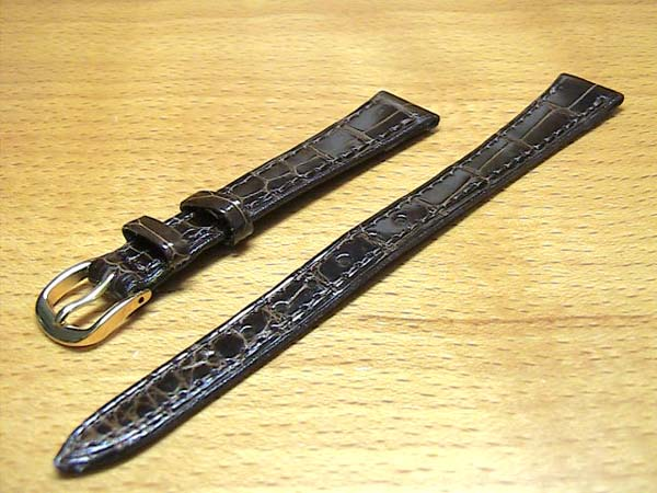 12mm時計バンド(腕時計)ベルト12ミリ クロコダイル (ワニ) 時計バンド 時計ベルト バネ棒 サービスつき 12mm チョコ 腕時計用 時計ベルト 時計用バンド 525円で販売していますバネ棒をサービスでお付けします。
