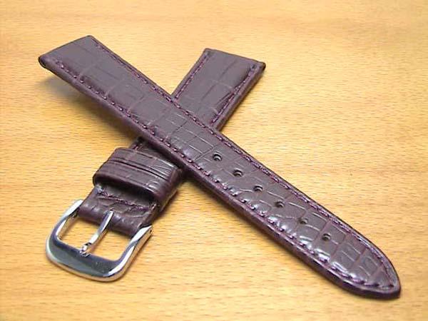 18mm時計バンド(腕時計)ベルト18ミリ クロコダイル(ワニ)時計バンド 時計ベルト バネ棒 サービス 18mm ワイン色 腕時計用 時計ベルト 時計用バンド 525円で販売していますバネ棒をサービスでお付けします。