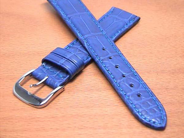 18mm時計バンド(腕時計)ベルト18ミリ クロコダイル(ワニ)時計バンド 時計ベルト バネ棒 サービス 18mm 青 ブルー 腕時計用 時計ベルト 時計用バンド 525円で販売していますバネ棒をサービスでお付けします。