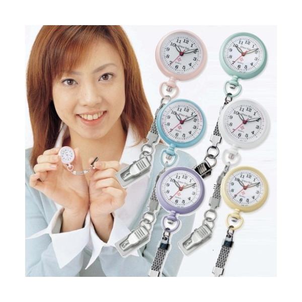 【メール便対応】NEWクリップナースウォッチ 蓄光タイプ 看護師 懐中時計 パルスメーター