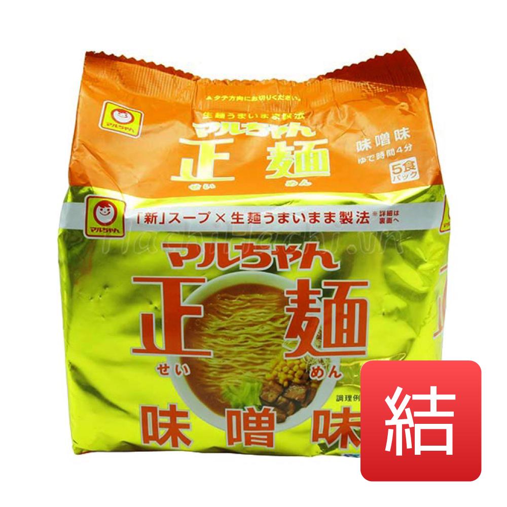 マルちゃん正麺 味噌味 東洋水産 108g×5 (めん80g×5) 18入数/箱