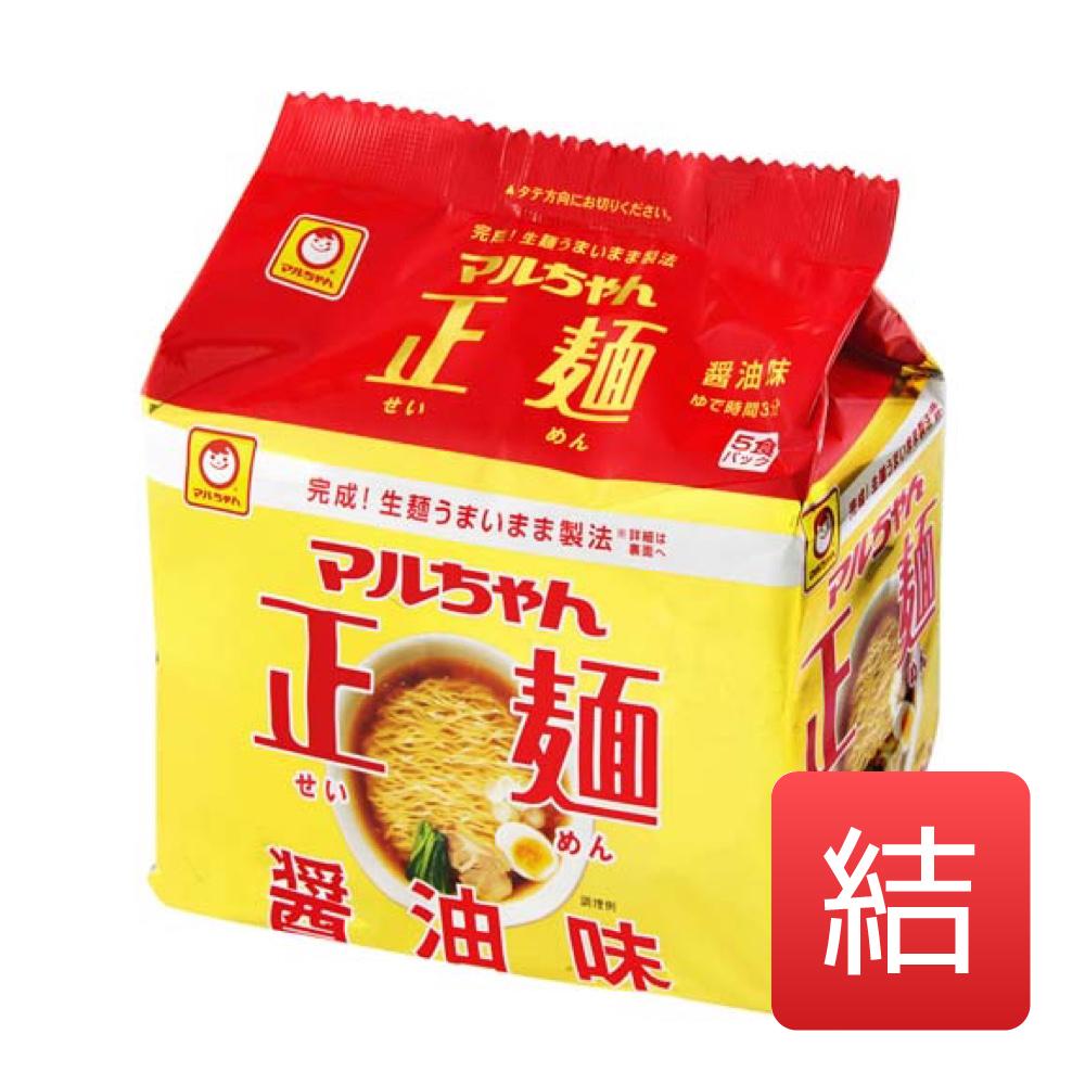 マルちゃん 正麺醤油味 525g 東洋水産 105g×5 (めん80g×5). 18入数/箱