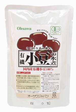 (Additive-free, pesticide-free) organic JAS organic adzuki beans boiled in water 230 g