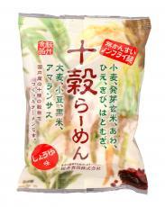マーケティング インスタントラーメン無添加 十穀らーめん しょうゆ味90g ノンフライラーメン 国内産の十種類の穀物を使用 ショッピング