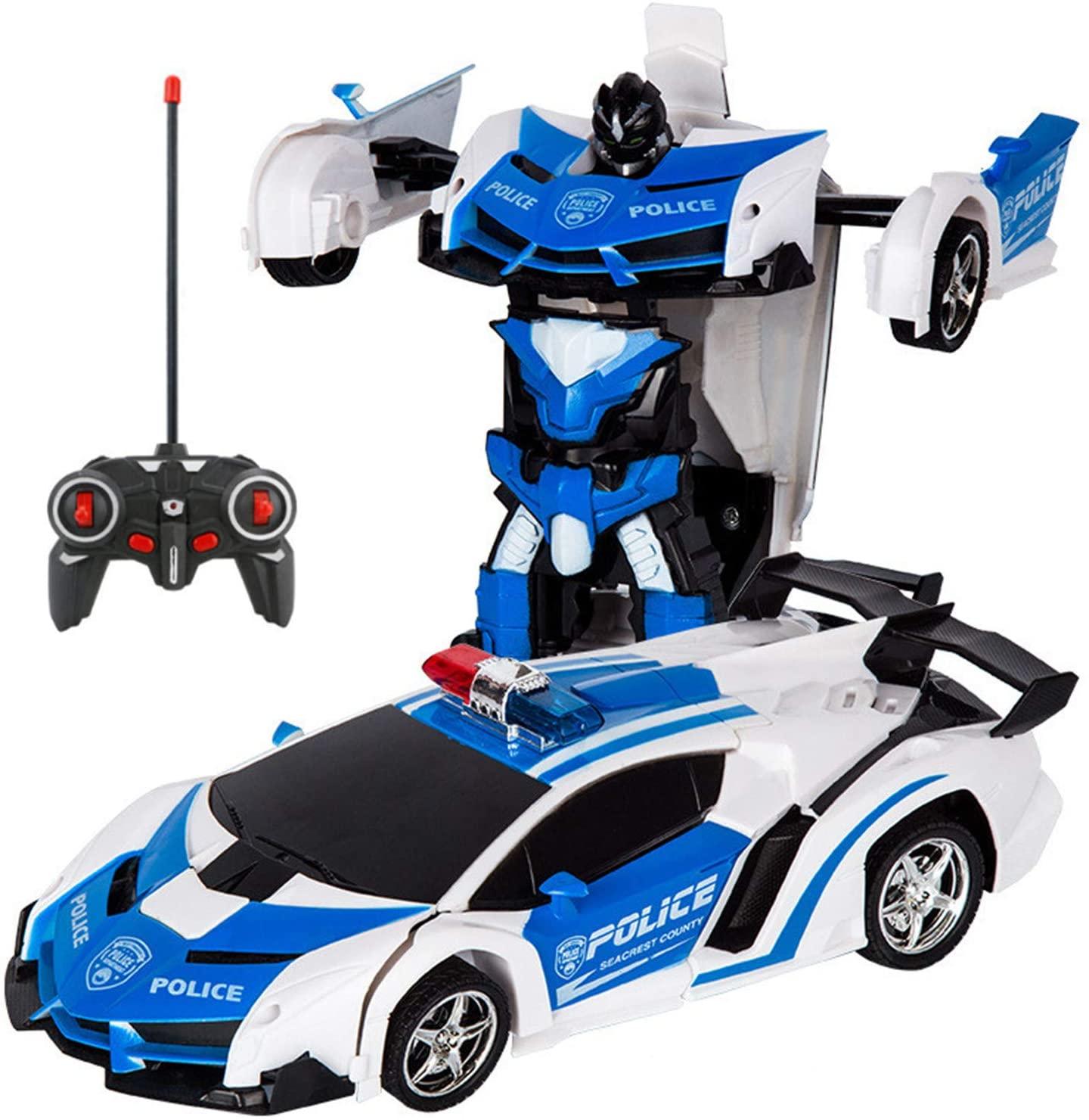 電動RCカー おもちゃの車 リモコンカー ラジコンカー 定番から日本未入荷 ロボットに変換することができます レッド 専門店 ブルー 非常にクールなデザイン 2色