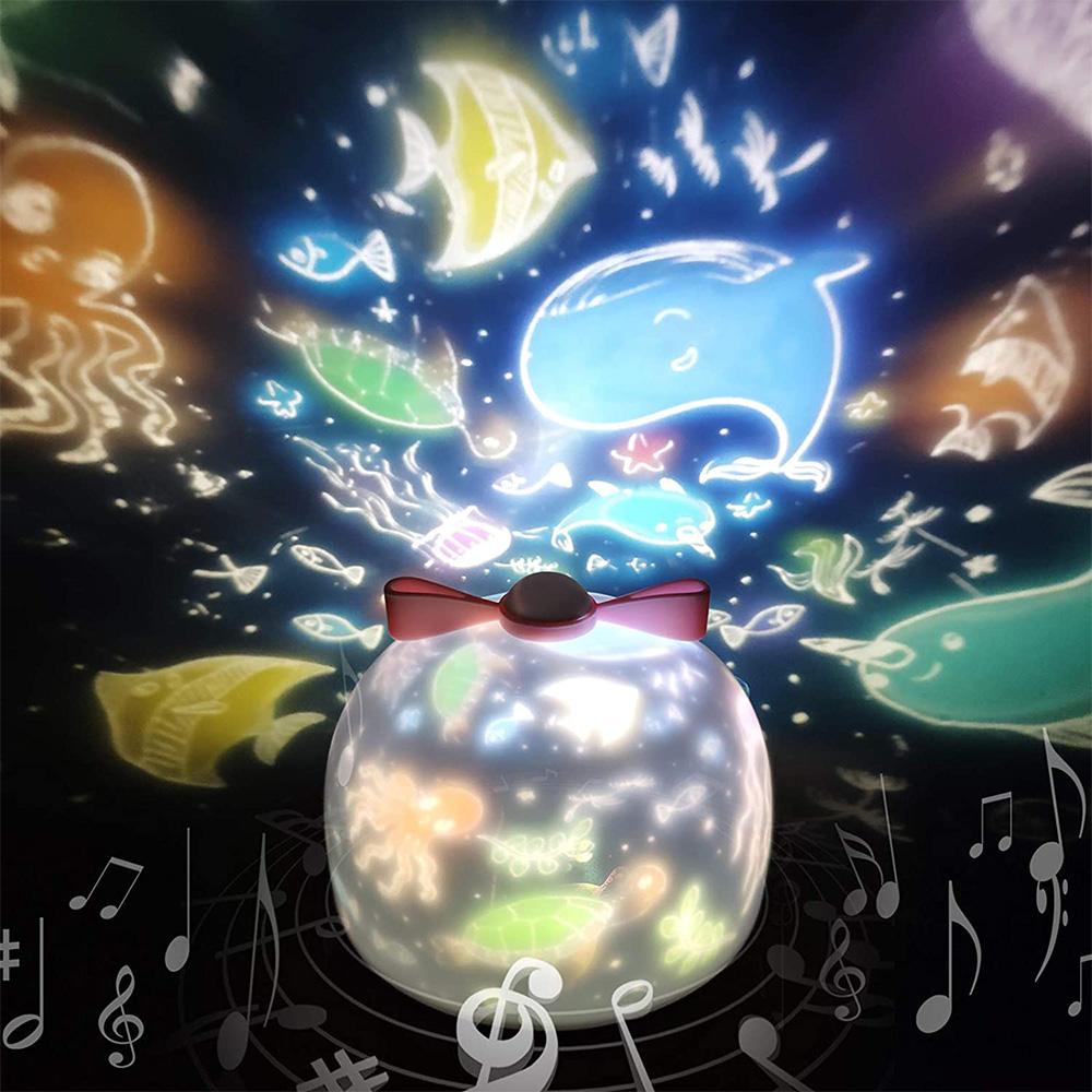 令和アップグレード版 スタープロジェクターライト 国内在庫 星空ライト 音楽再生 6種類投影映画フィルム バレンタインデー スターナイトライト 360度回転ライト 限定品 ギフト 海プロジェクター 寝かしつけ用おもちゃ プラネタリウム
