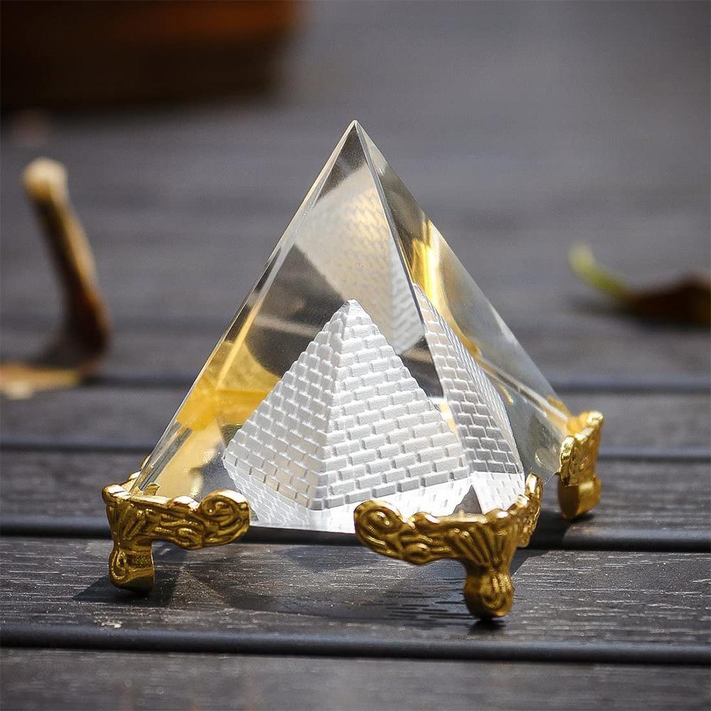 天然 水晶 ピラミッド パワーストーン NEW売り切れる前に☆ インテリア サンキャッチャー 装飾品 プレゼント ギフ_包装