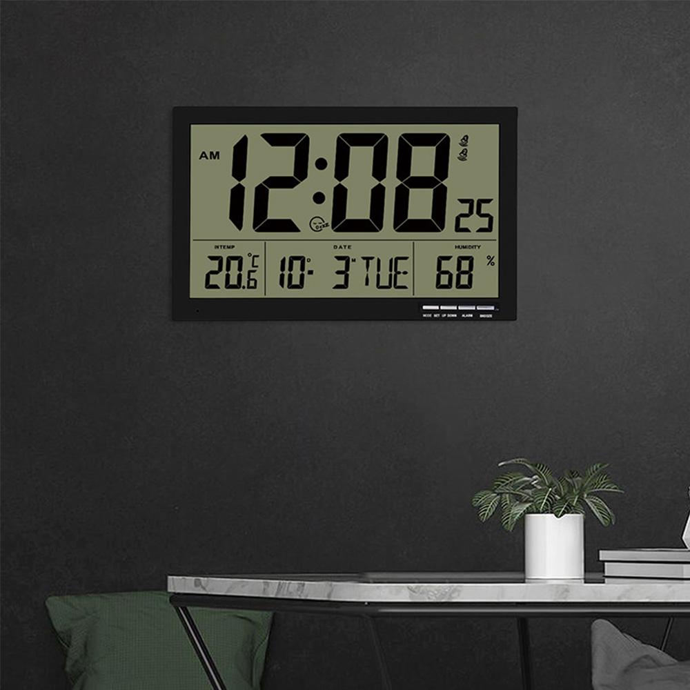 クロック 掛け時計 置き時計 兼用 デジタル カレンダー メタリック 温度 湿度 激安特価品 六曜 販売期間 限定のお得なタイムセール 大型 表示