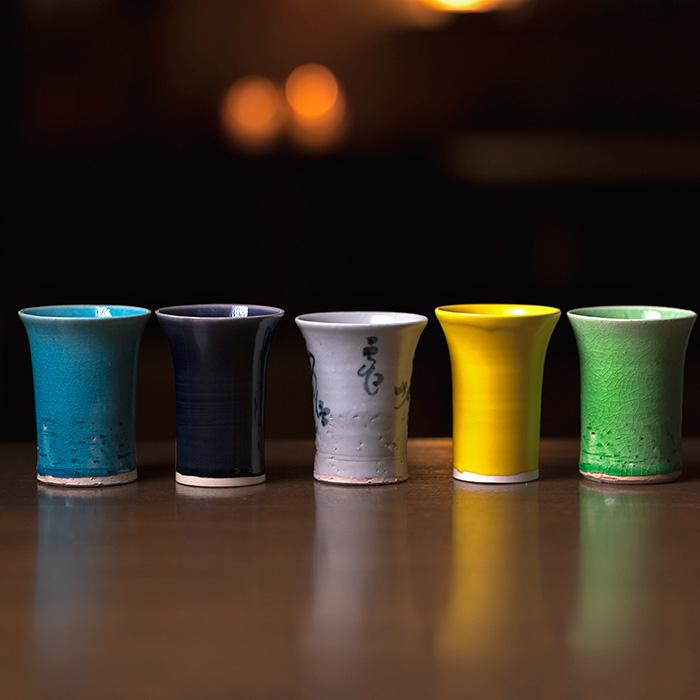 即納最大半額 5つの釉から選べる陶芸家:荒木漢一さんのフリーカップ アプリカップ 安い 選べるフリーカップ 荒木漢一 KIA-116 作家