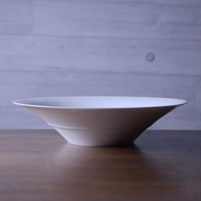 和食器 白磁八寸平鉢 作家「竹内紘三」