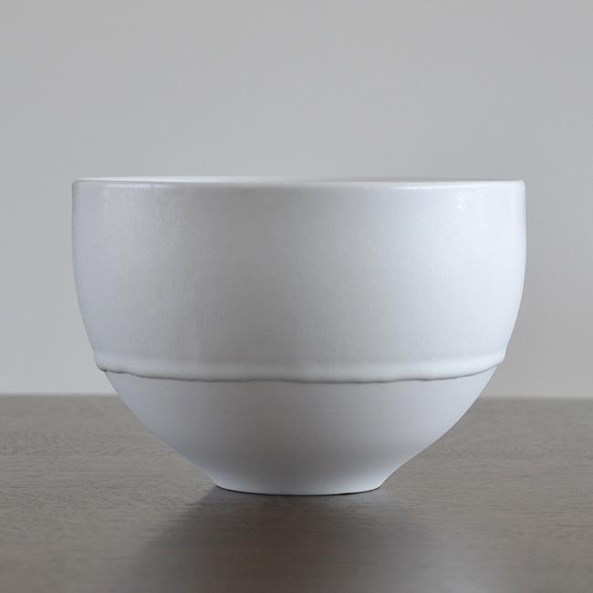 白磁 Flower Bowl (L) 作家「竹内紘三」