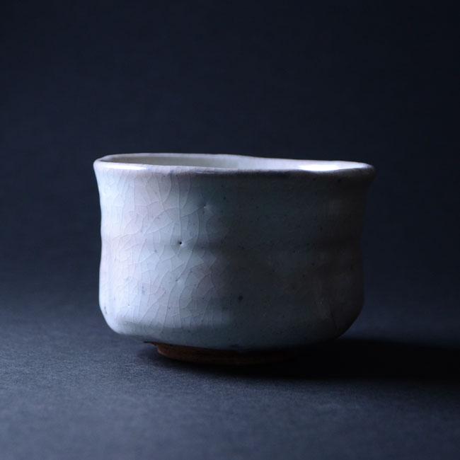 【共箱付】美濃粉引茶碗(RH-051) 作家「林隆一郎」