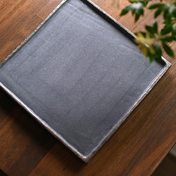 和食器 鼠志野角大皿 (SS-105) 作家「佐々木好正」
