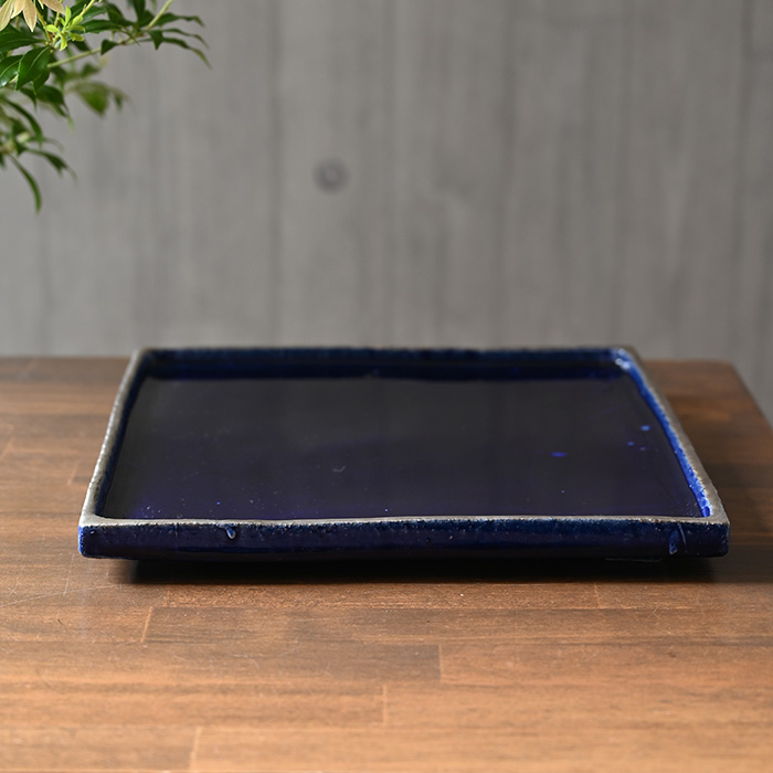和食器 瑠璃釉角大皿 (SS-106) 作家「佐々木好正」