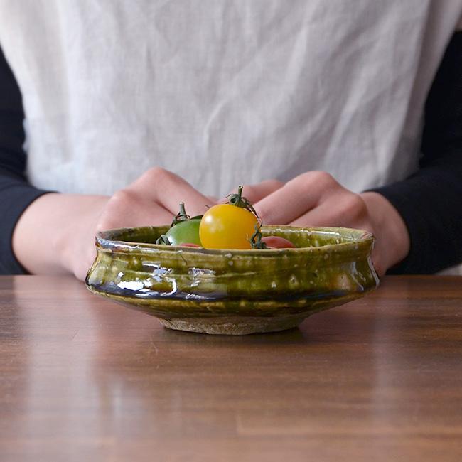 和食器 大和織部平鉢  作家「金本卓也」