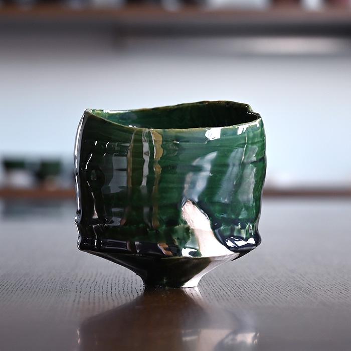 新版 織部碗(TY-194)  作家「横山拓也」, 釣鐘屋本舗 186db599