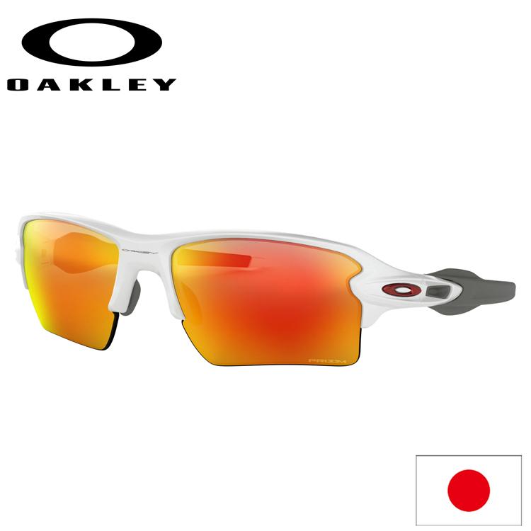 日本正規品 オークリー (OAKLEY) サングラス FLAK 2.0 XL フラック OO9188-9359 【Polished White】【Prizm Ruby】【Standard Fit】