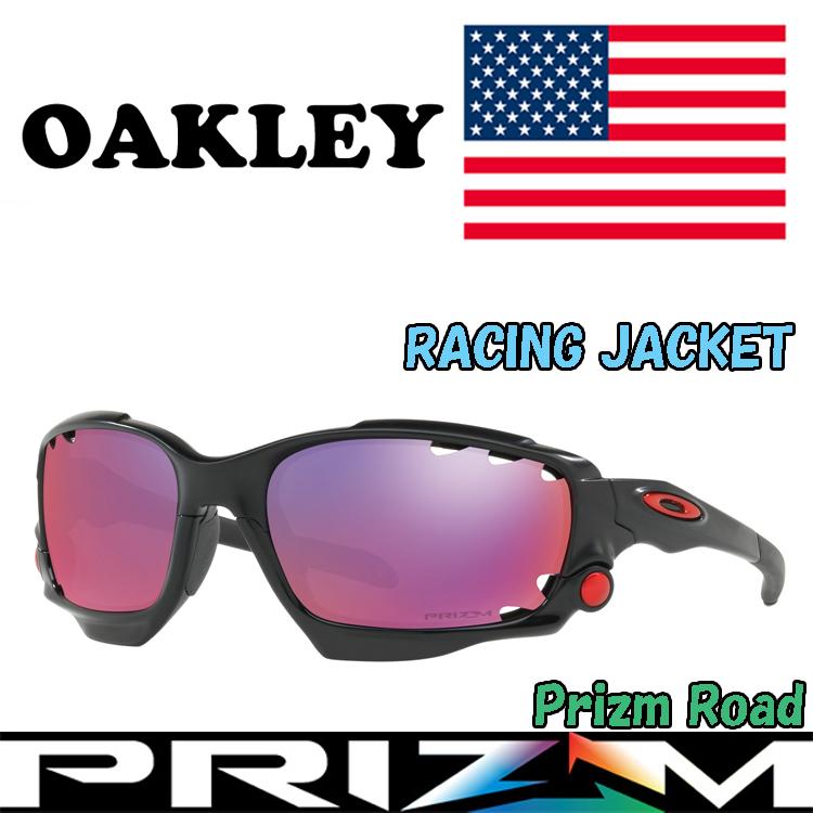 USAモデル オークリー (OAKLEY) サングラス レーシングジャケット RACINGJACKET OO9171-3762 【Matte Black】【Prizm Road】【プリズム】【Standardフィット】