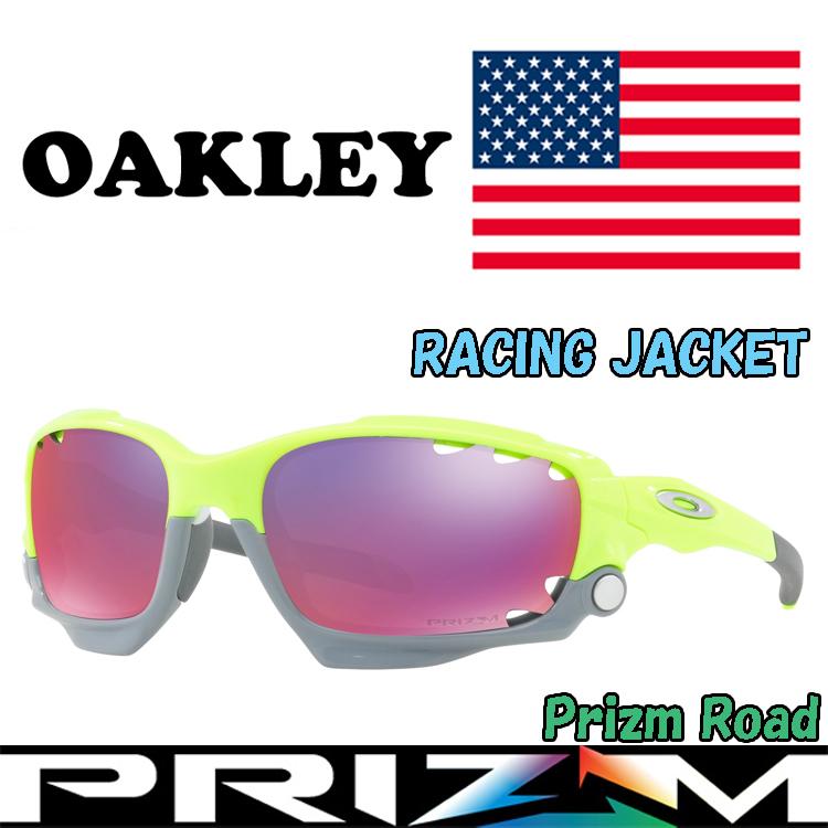 USAモデル オークリー (OAKLEY) サングラス レーシングジャケット RACINGJACKET OO9171-3962 【Retina Burn】【Prizm Road】【プリズム】【Standardフィット】