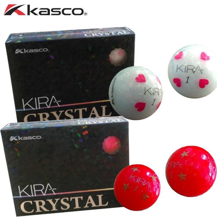 キャスコ KIRA CRYSTAL(キラクリスタル)ゴルフボール 1ダース 12球入 Kasco 1ダース(12個) 【キラ】 【KIRA】 【KIRACRYSTAL】