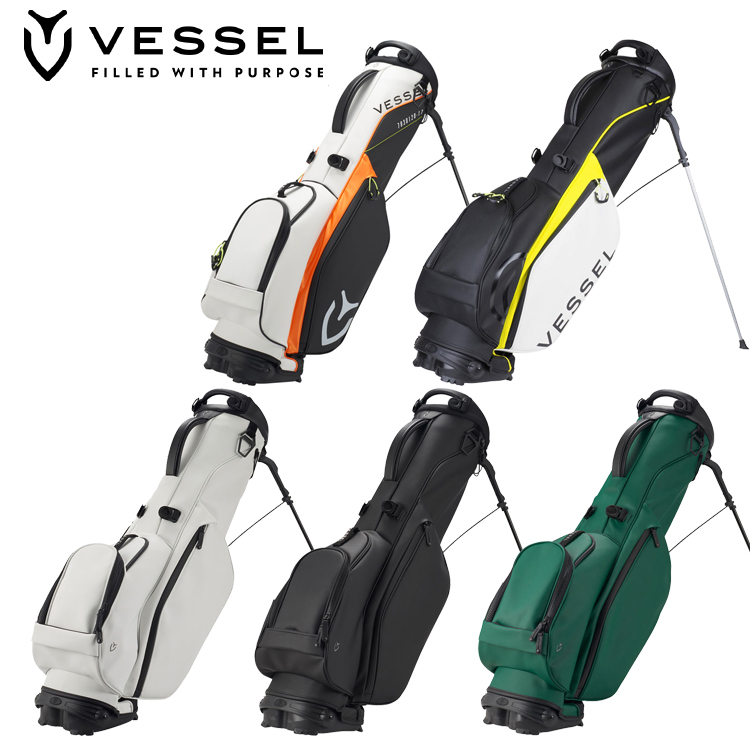 VESSEL GOLF べゼル ゴルフ VLX ラグジュアリースタンドバッグ シングルストラップ スタンド式 キャディバッグ ヴェゼル 7430120