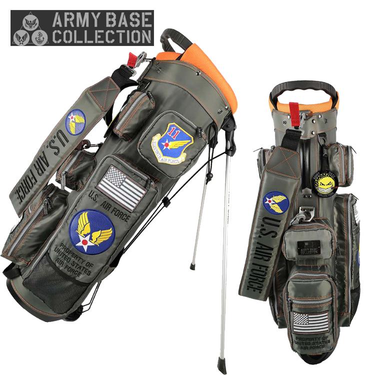 アーミーベース コレクション ARMY BASE スタンドバッグ ABC-029SB スタンド キャディバッグ グレー ARMY BASE COLLECTION【アーミーベースコレクション】【キャディバッグ】