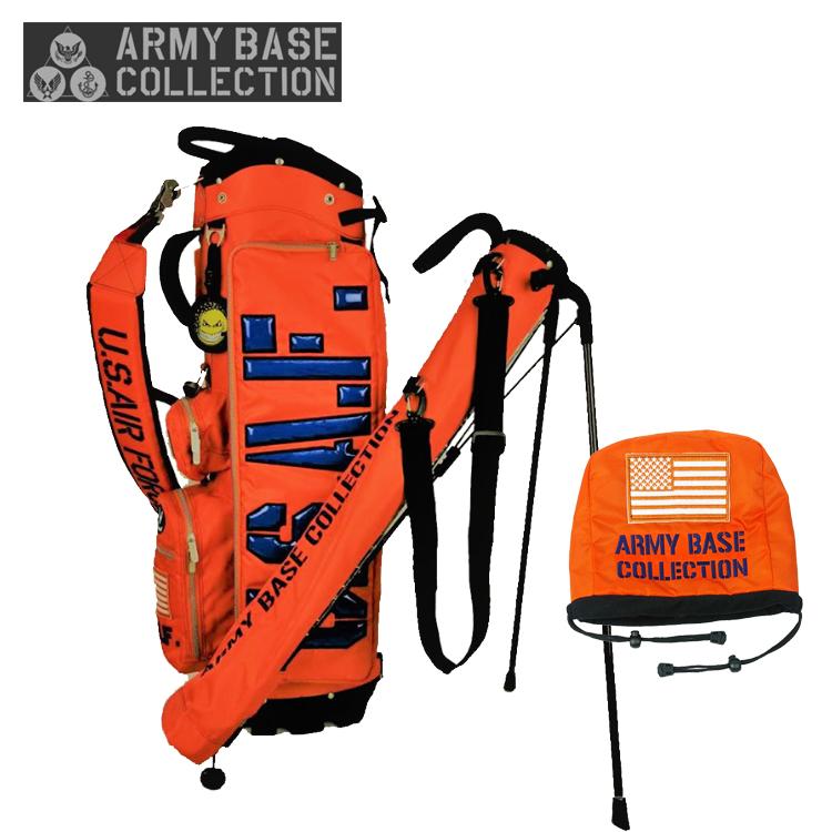 アーミーベース コレクション ARMY BASE スタンドバッグ ABC-031SB スタンド キャディバッグ オレンジ ARMY BASE COLLECTION【アーミーベースコレクション】【キャディバッグ】