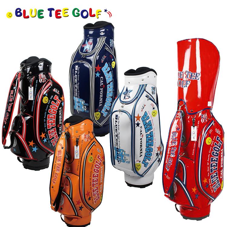 即納 ブルーティーゴルフ エナメルキャディバッグ 9型 キャディバッグ BTG-CB005 【BLUE TEE GOLF】【CB005】【BTG-005】【キャディバッグ】