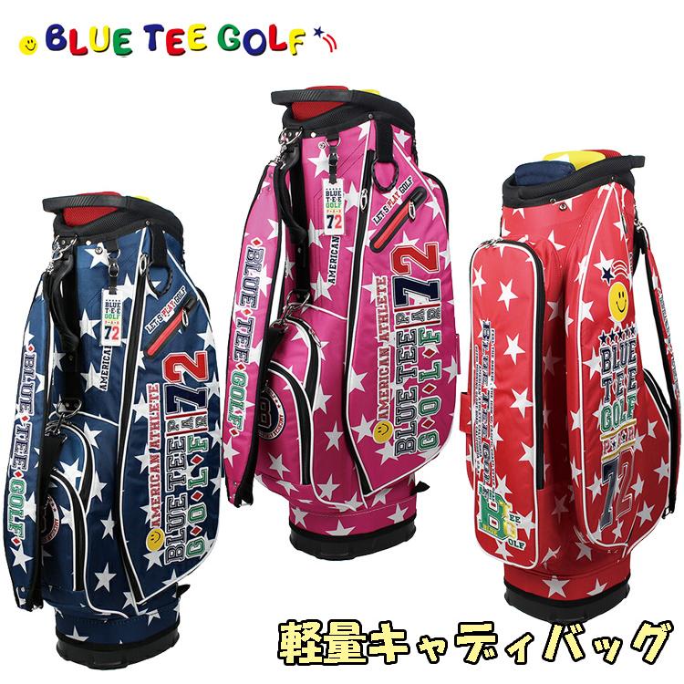 ブルーティーゴルフ ナイロン 軽量 キャディバッグ 9型 キャディバッグ BTG-CB006 スター STAR 【BLUE TEE GOLF】【CB006】【BTG-006】【キャディバッグ】