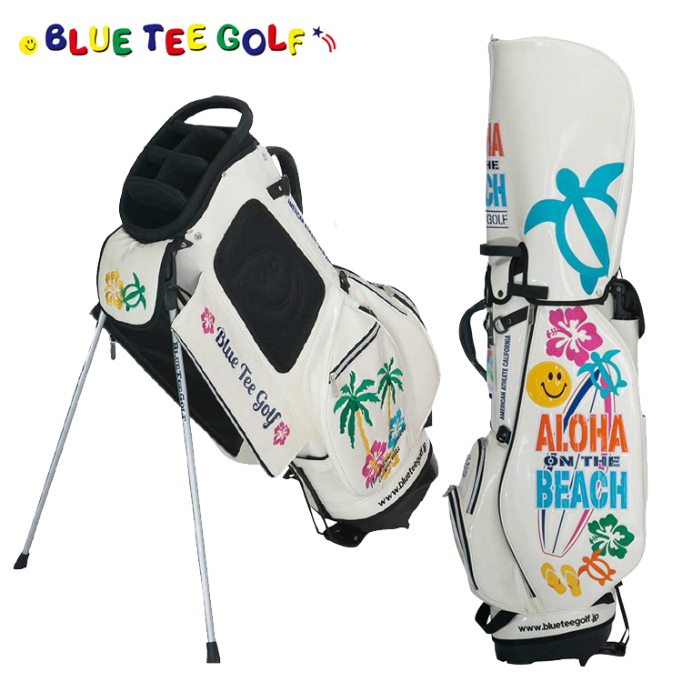 ブルーティーゴルフ アロハ オン ザ ビーチ スタンド式 キャディバッグ 9型 キャディバッグ BTG-CB011 【BLUE TEE GOLF】【CB011】【BTG-011】【キャディバッグ】