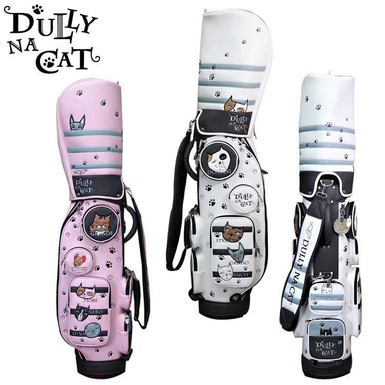 送料無料 北海道は3500円 沖縄県4000円を別途頂戴します DULLY NA CAT ダリーナキャット WEB限定 DN-CB03 ゴルフバッグ 8.5インチ 猫 キャット 新登場 キャディバッグ