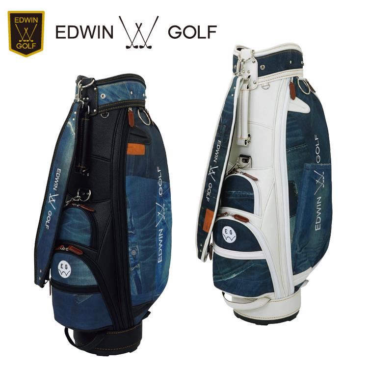 エドウィン ゴルフ EDWIN GOLF キャディバッグ カートバッグ 9型 EDWIN-041 ジーンズ柄 【エドウィンゴルフ】【ゴルフバッグ】
