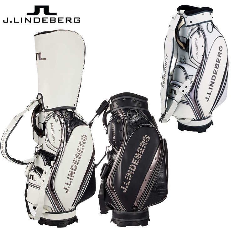 J.LINDEBERG ゴルフ キャディバッグ 9型 47インチ対応 JL-019 (28751) ジェイ リンドバーグ ゴルフバッグ 【カートバッグ】