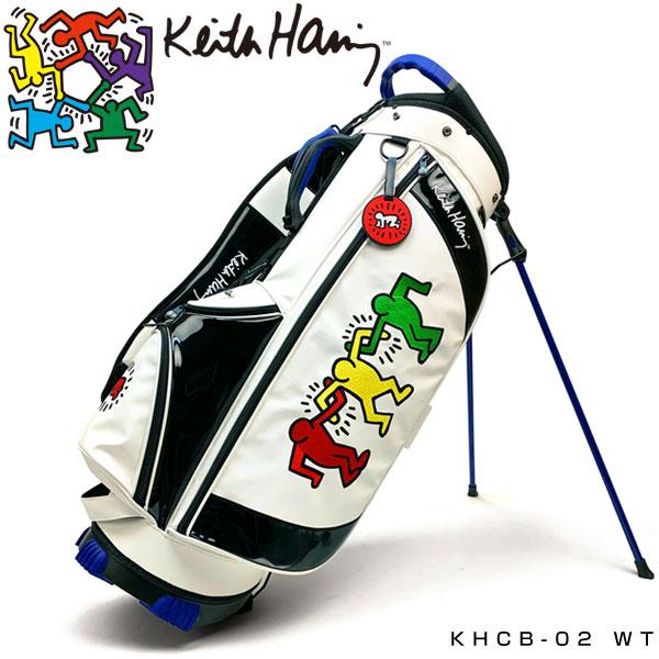 キースヘリング ゴルフ スタンド キャディバッグ 3Figs KHCB-02 Keith Haring 【WT】【ホワイト】