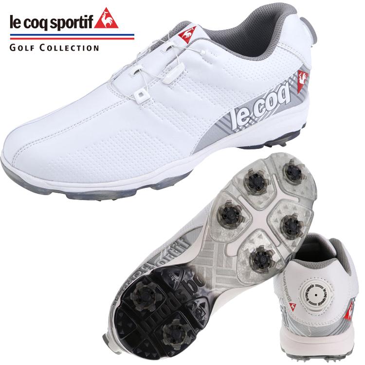 ルコック ゴルフ ダイヤル式 ソフトスパイク ゴルフ シューズ QQ2NJA01 【2019年モデル】【ホワイト】【le coq sportif 】【メンズ】