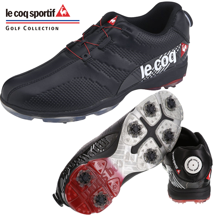 ルコック ゴルフ ダイヤル式 ソフトスパイク ゴルフ シューズ QQ2NJA02 【2019年モデル】【ブラック】【le coq sportif 】【メンズ】