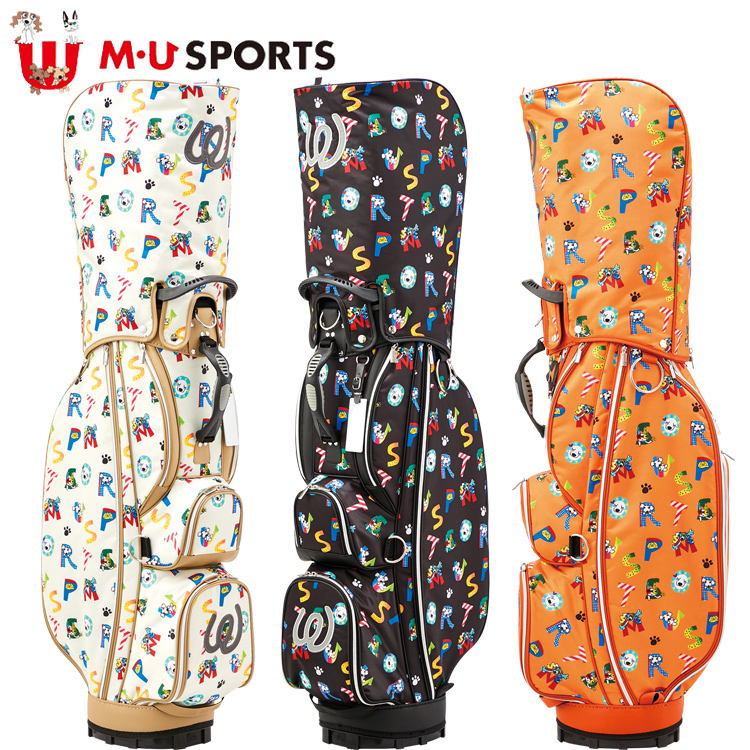 MU SPORTS MU スポーツ キャディバッグ ゴルフバッグ 9.5型 レギュラーソール 703C1104 【バッグ】【M・U SPORTS】【MUスポーツ】【エムユー】