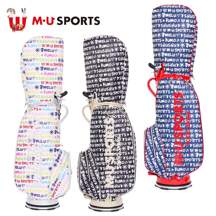 MU SPORTS MU スポーツ キャディバッグ ゴルフバッグ 8.5型 レギュラーソール 703D1162 【バッグ】【M・U SPORTS】【MUスポーツ】【エムユー】