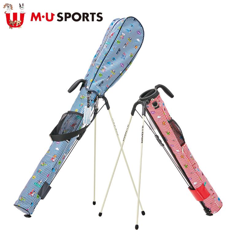 MU SPORTS MU スポーツ セルフスタンドバッグ 703P6410 フード付 クラブバッグ クラブケース 【M・U SPORTS】【MUスポーツ】【エムユー】