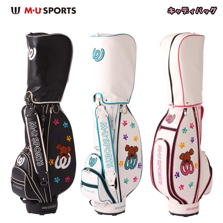 MU SPORTS MUスポーツ 703W6900 レディース ゴルフ キャディバッグ ゴルフバッグ 【カートバッグ】