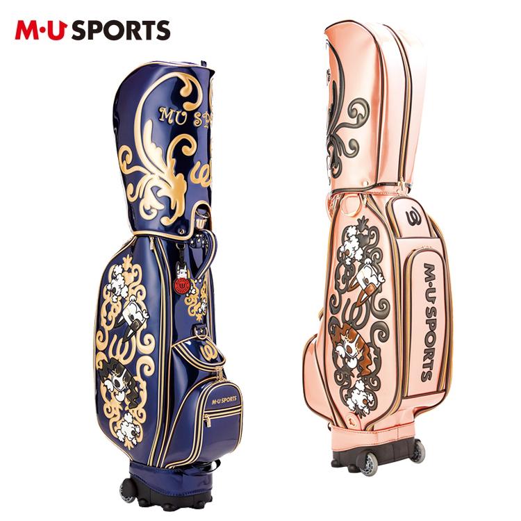 MU SPORTS MU スポーツ キャディバッグ ローリングソール キャスター付き ゴルフバッグ 703P1100 【バッグ】【M・U SPORTS】【MUスポーツ】【エムユー】