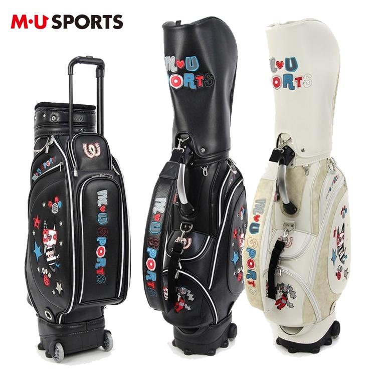 MU SPORTS MU スポーツ キャディバッグ ローリングソール キャスター付き ゴルフバッグ 703P1102 【レザー調】【バッグ】【M・U SPORTS】【MUスポーツ】【エムユー】