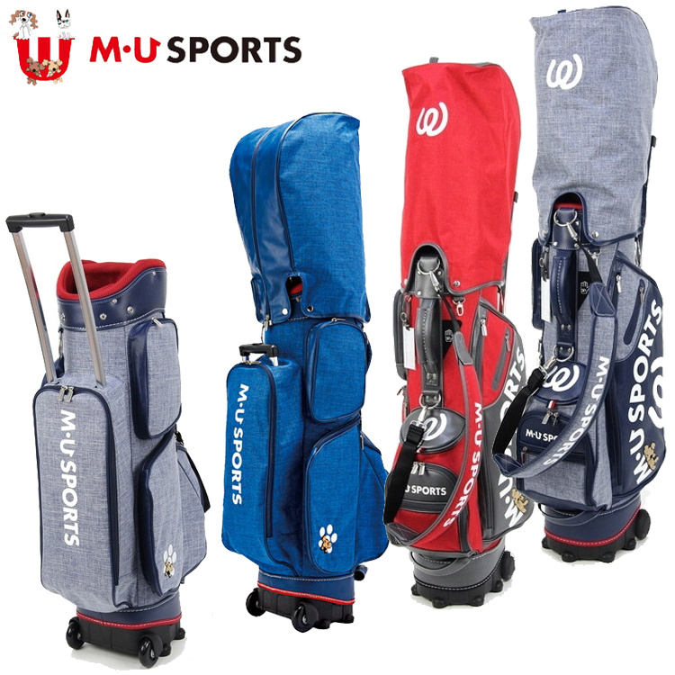 MU SPORTS MU スポーツ キャディバッグ ゴルフバッグ 9型 ローリングソール 703P2104 【バッグ】【M・U SPORTS】【MUスポーツ】【エムユー】