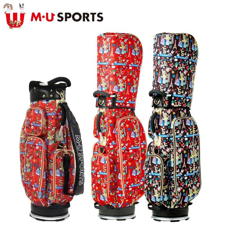 MU SPORTS MUスポーツ 703W2104 レディース キャディバッグ 9.0インチ レギュラーソール 【ゴルフバッグ】【2018年モデル】